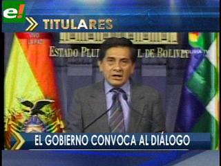 Gobierno convoca nuevamente al diálogo