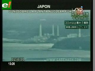 Ovni gigante aparece sobre Fukushima