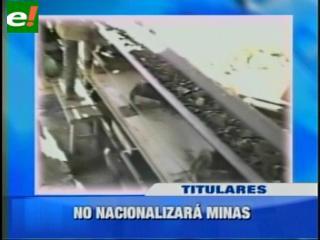 Descartan nacionalización de minas