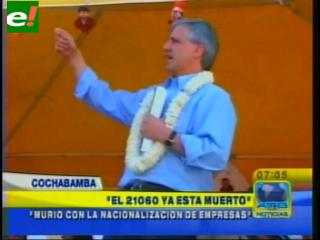 """García Linera: """"El decreto 21060 ya está muerto"""""""