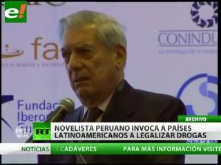 "Vargas Llosa: ""Se debe legalizar drogas en América Latina"""