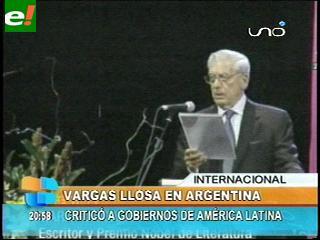 Mario Vargas Llosa criticó a los gobiernos de América latina