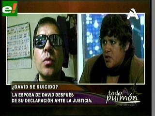 """Esposa de David Niño de Guzmán: """"Mi esposo no se suicidó, lo asesinaron"""""""