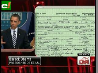 Obama presenta su certificado de nacimiento para demostrar que nació en EEUU