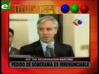 """García Linera: """"Pedido de soberanía es irrenunciable"""""""