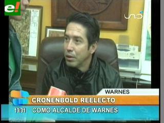 Mario Cronenbold es reelecto Alcalde de Warnes