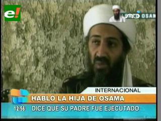 """Hija de Bin Laden: """"Mi padre fue capturado vivo y asesinado"""""""