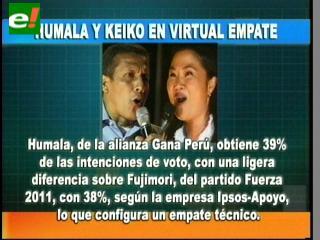 Empate técnico entre Humala y Keiko