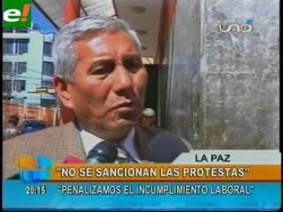 """Rojas: """"No se sancionan las protestas, se penaliza el incumplimiento laboral"""""""