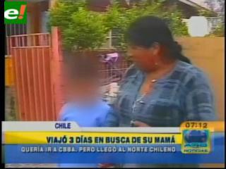 Niño boliviano vivió una odisea para reencontrarse con su madre