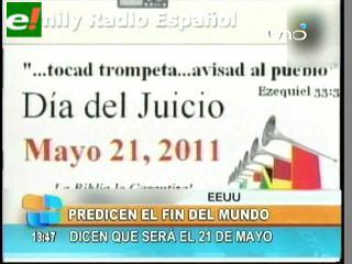 Grupo evangélico anuncia que el mundo acabará el 21 de mayo