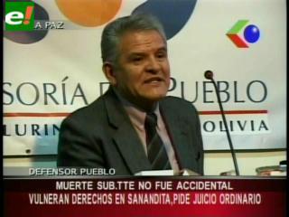 """Defensor del Pueblo: """"La muerte del subteniente Gróver Poma no fue accidental"""""""