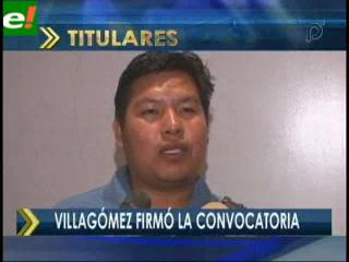 Villagómez firmó la convocatoria