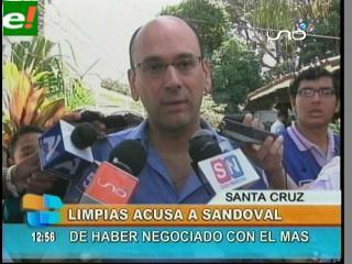 Limpias acusa Sandoval de haber negociado con el MAS