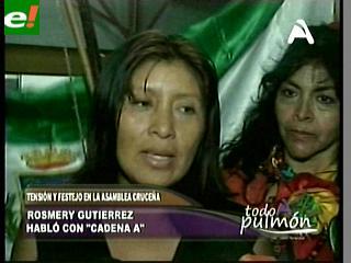 "Rosmeri Gutiérrez: ""La demanda contra Villagómez es un tema legal"""