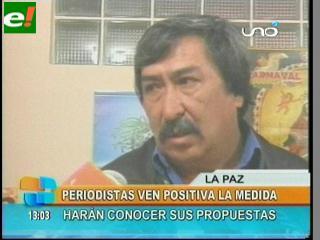 Periodistas aplauden la propuesta de Evo