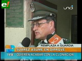 Intervienen DIPROVE Santa Cruz, Alberto Suárez es el nuevo director