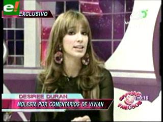 """Para D&F, Desirée Durán llamó """"loca"""" a Vivian Fiaschetti"""
