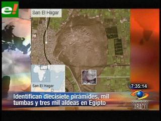 Descubren con satélites 17 pirámides y miles de tumbas en Egipto