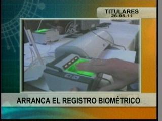 Arranca el registro biométrico