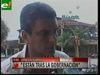 """Suárez: """"Insisto, hay una persecución para tomar la Gobernación del Beni"""""""