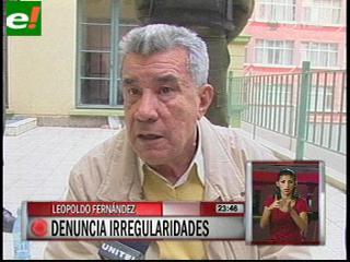 Leopoldo Fernández denuncia irregularidades en su proceso