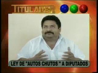 """Ley de """"autos chutos"""" a diputados"""