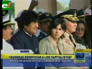 Evo recalca que Bolivia es un Estado pacifista