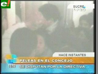 Bochornosa sesión en Sucre por la directiva del Concejo