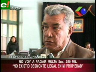Leopoldo asegura que no procedió a ningún desmonte ilegal en su propiedad