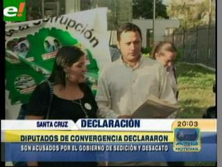 Diputados Dorado y Echeverria declararon ante la fiscalía por denunciar hechos de corrupción