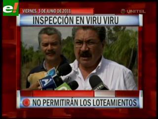 Inspección en Viru Viru, no permitirán loteamientos
