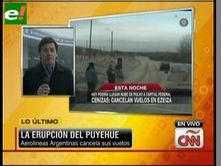 Paralizados vuelos en Argentina por ceniza del volcán