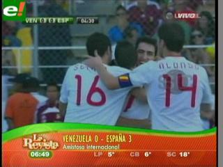 España golea a Venezuela por 3-0 en partido amistoso