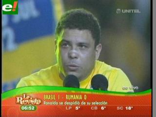 Ronaldo dice adiós en medio de una ovación