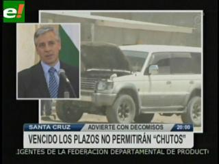 El Estado confiscará en 3 meses los vehículos indocumentados