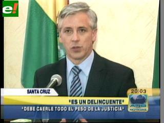 """García Linera: """"Fructuoso Ávila es un delincuente"""""""
