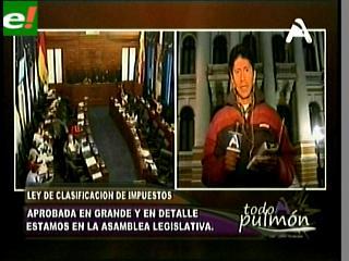 Senado aprueba Ley de clasificación y definición de impuestos y la remite a Diputados