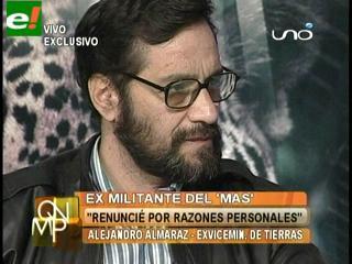 """Almaraz: """"Evo es responsable y consciente para que el Gobierno vaya por mal camino"""""""