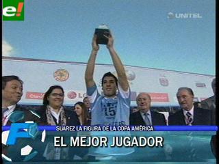 Luis Suárez, mejor jugador de la Copa América