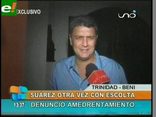 Policía repuso escoltas al Gobernador Ernesto Suárez