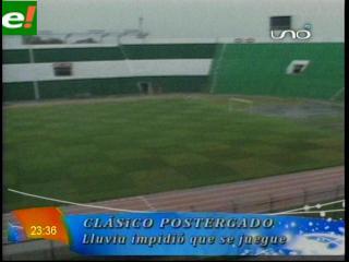 Clásico cruceño suspendido por intensa lluvia