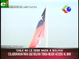 """Canciller Moreno: """"Chile no le debe nada a Bolivia pero colaborará en un mejor acceso al mar"""""""