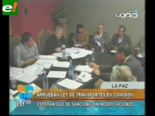 Comisión del Senado aprueba en grande Ley de Transporte