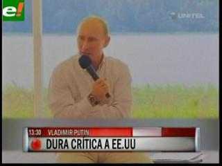 """Putin acusa a EEUU de ser un """"parásito"""" de la economía"""