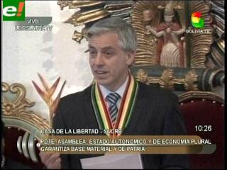 """García Linera habló sobre las pérdidas territoriales y criticó a las """"élites extranjerizantes"""""""