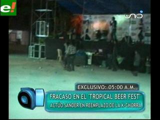 """Fracaso en el """"Tropical Beer Fest"""""""