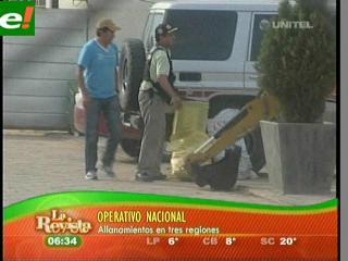 Operativo en tres ciudades golpea a narcos internacionales