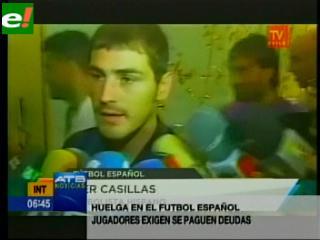 Jugadores de la liga española van a la huelga