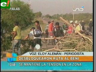 Suspenden bloqueo en Pailón